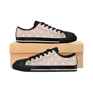 Women's Sneakers - Polka-dot Fun - Pink Grunge