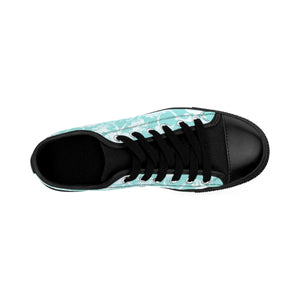 Women's Sneakers - French Fun - Teal French Grunge