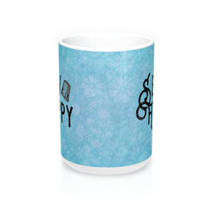 Sew Happy with Thimble Blue Mugs