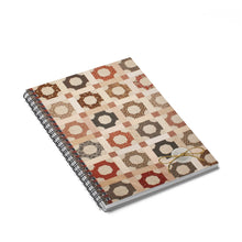 Printed Quilt Spiral Notebook - Scrappy Patchwork