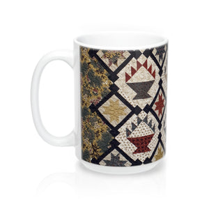 Printed Quilt Mugs - Scrappy Baskets