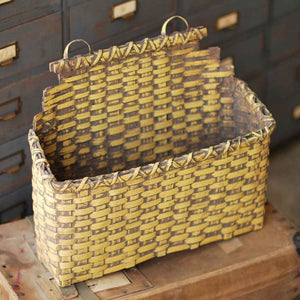 Foyer Primitive Hanging Basket - Goldenrod Yellow
