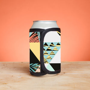 Chasin the Sun - Retro Triangle and Palm Summer Velcro Drink Koozies