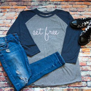 Set Free Inspirational Raglan T-shirt