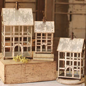 Homestead Lanterns White Washed