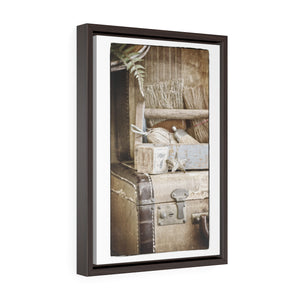 Vintage Photograph Wall Art - Vertical Framed Premium Gallery Wrap Canvas