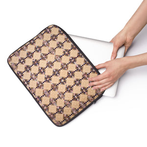 Printed Quilt Laptop Sleeve - Plumalicious