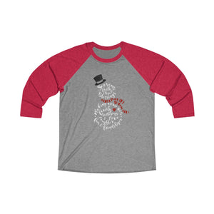 Seasons Blessings Snowman Raglan Christmas T-Shirt