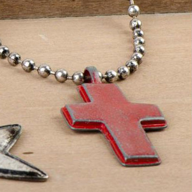 Industrial Cross Necklace - 83897A