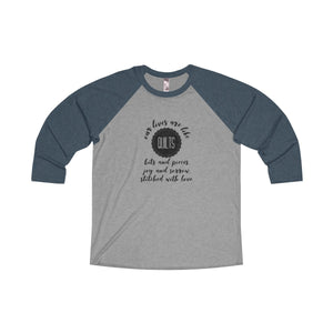 Our Lives Are Like Quilts Raglan T-shirt