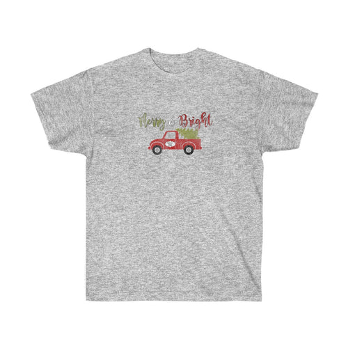 Merry & Bright Vintage Truck Ultra Cotton T-Shirt