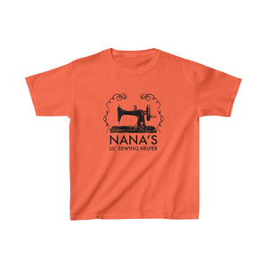 Nana's Lil' Sewing Helper - Kids Heavy Cotton Tee
