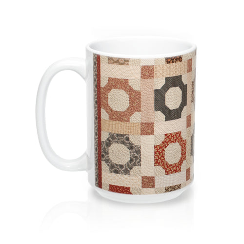 Printed Quilt Mugs - Scrappy Patchwork