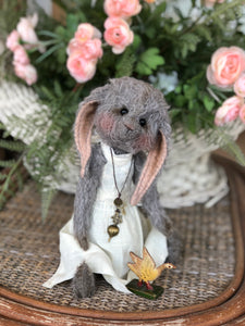 """Willow"" Mohair Bunny & Darling Goose"