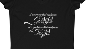 Grateful Joyful Women's Jersey Short Sleeve V-Neck Tee