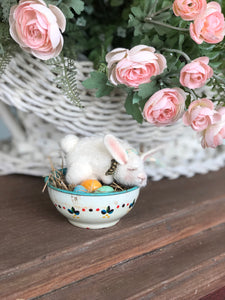 Peaceful spring- Wool Bunny