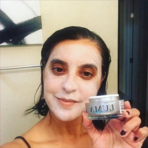 Luma Mask Facial Scrub and Face Exfoliator For Deep Pore Cleansing & Blemishes