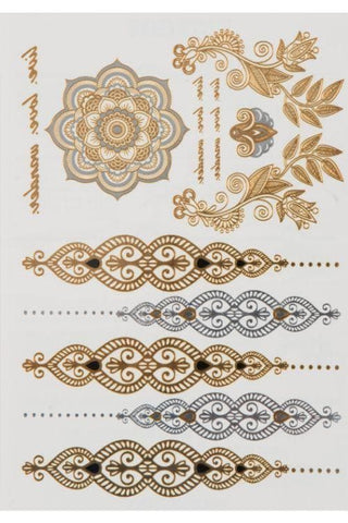 Aphrodite Goddess Temporary Metallic Tattoos