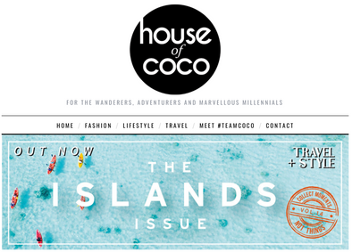 House of Coco holiday feature with saint iris adriatica