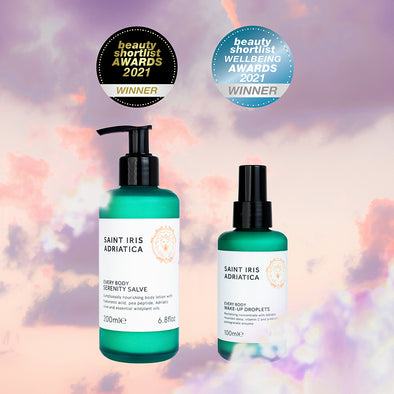 Best body lotion and best aromatherapy beauty product winners at Beauty Shortlist Awards