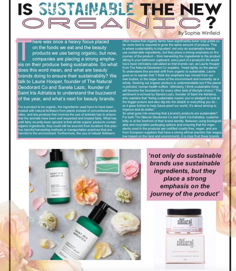 Sustainable and conscious beauty with Saint Iris Adriatica founder, Sanela Lazic, page 1