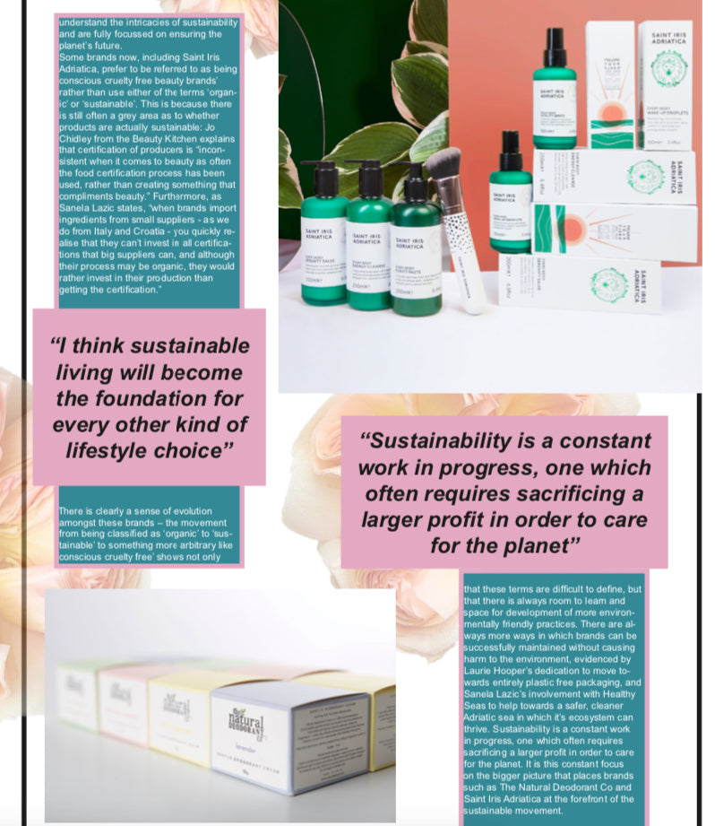 Sustainable and conscious beauty with Saint Iris Adriatica founder, Sanela Lazic, page 2
