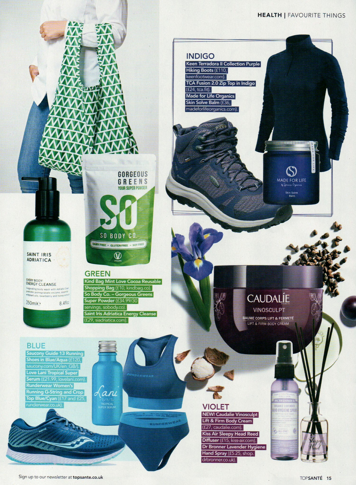 Favourite Things feature with Saint Iris and Energy Cleanse