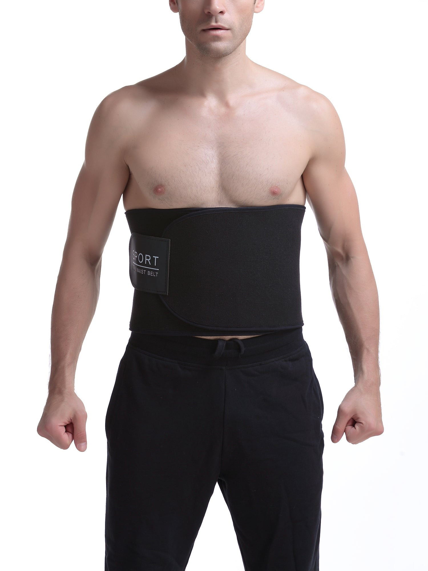 406a9816afc Waist Trimmer Sweat Sauna Belt Black – Bargoos Fashion