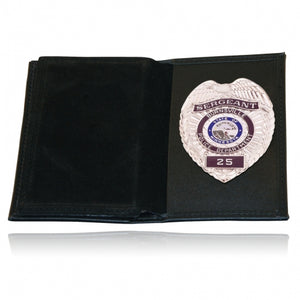 Boston Leather Badge Case 2 Oversized ID Windows Soft 115