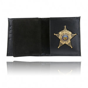Boston Leather Book Style Badge Wallet Card Slots Soft 175