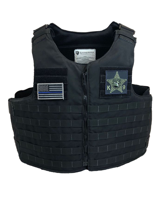 Survival Armor Front Opening K9 Vest Blue Line Innovations