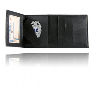 Boston Leather Trifold Badge Wallet Soft 375