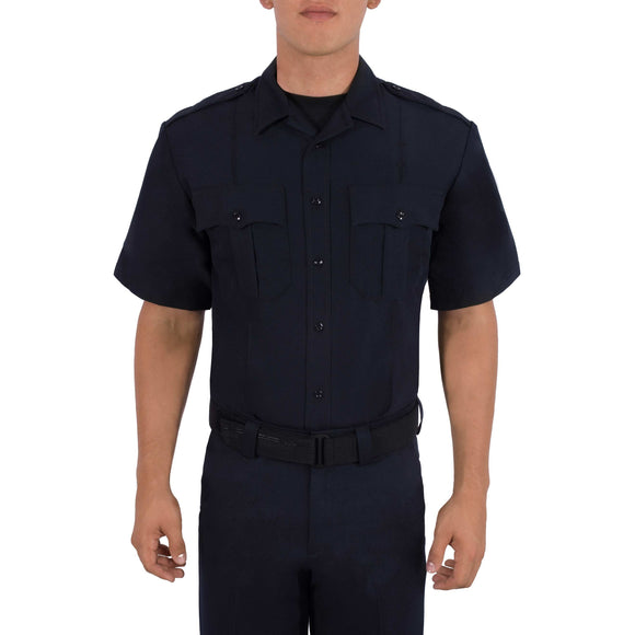 SHORT SLEEVE ZIPPERED POLYESTER SHIRT