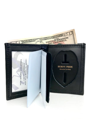 Hero's Pride Bi-Fold Leather Badge Wallet Blue Line Innovations