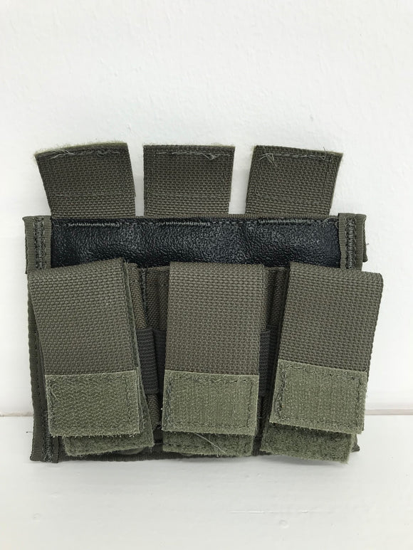 Diamondback Tactical BattleLab BLPM06-11 Triple Universal Pistol Mag Pouch Ranger Green Blue Line Innovations