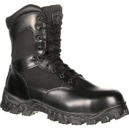 ROCKY AlfaForce Zipper Waterproof Duty Boot