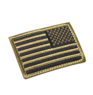 Desert Tan Flag Patch w/ Hook REVERSE Blue Line Innovations