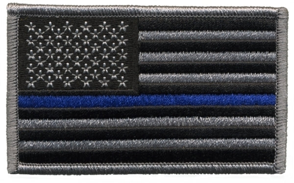 Thin Blue Line Flag Patch w/ Hook