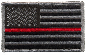 Thin Red Line Flag Patch w/ Hook Blue Line Innovations