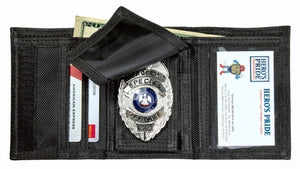 Hero's Pride Tri-Fold Badge Wallet Blue Line Innovations