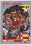 Byron Dinkins Houston Rockets NBA Hoops 1990-91 #123 RC - TheCollectorsClub