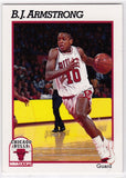 B.J. Armstrong Chicago Bulls NBA Hoops 1991-92 #26 - TheCollectorsClub