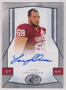 Lane Johnson Oklahoma Sooners SPx 2013 #122 RC  /299