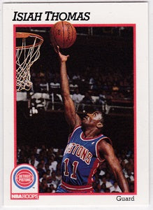 Isiah Thomas Detroit Pistons NBA Hoops 1991-92 #66 - TheCollectorsClub