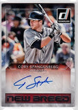 Cory Spangenberg San Diego Padres Panini Donruss 2016 New Breed Autographs #NB-CS - TheCollectorsClub