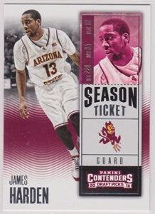 James Harden Arizona State Sun Devils Panini Contenders Draft Picks 2016-17 #40 - TheCollectorsClub
