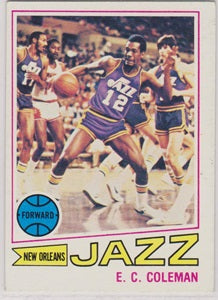 E.C. Coleman New Orleans Jazz Topps 1977-78 White Back #123  VG - TheCollectorsClub
