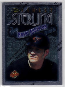 Brady Anderson Baltimore Orioles Topps Finest 1996 #346 - TheCollectorsClub