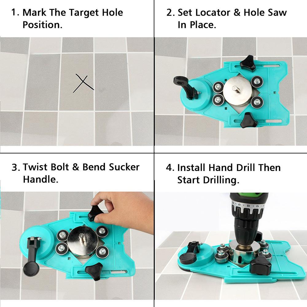 Domom Ceramic Tile Punching Locator – Inspired Household