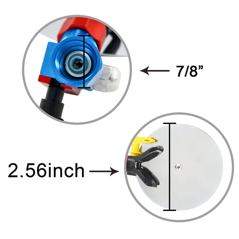 Domom Spray Guide Accessory Tool Airless Paint Sprayer 517 Tip 7/8 Inch Paint Splash Guard